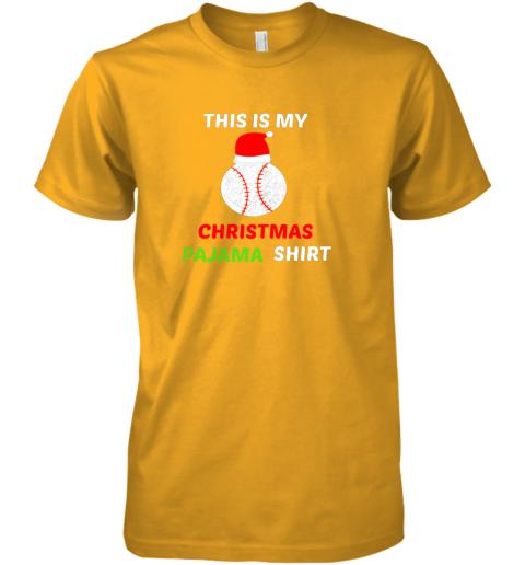 fkn1 this is my christmas pajama shirtgift for baseball lover premium guys tee 5 front gold