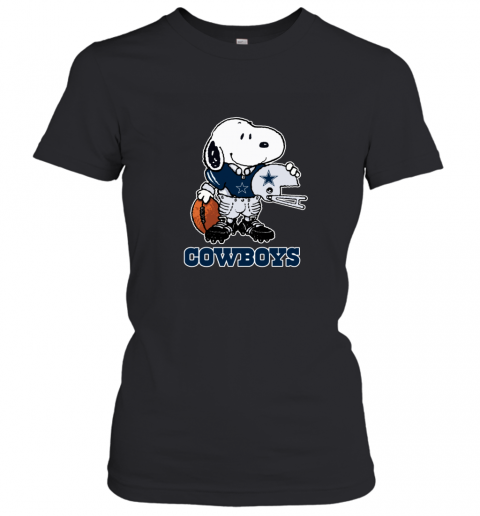Snoopy Strong And Proud Dallas Cowboys Player NFL Women's T-Shirt