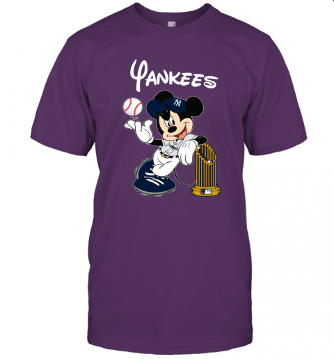 kmlj new york yankees mickey taking the trophy mlb 2019 jersey t shirt 60 front team purple