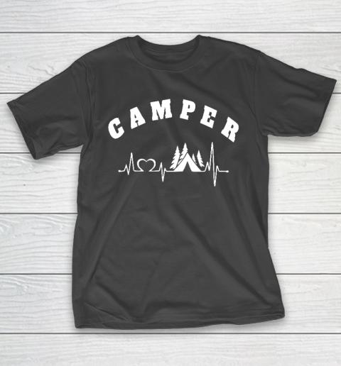 Heartbeat Camping Hobby Camper T-Shirt