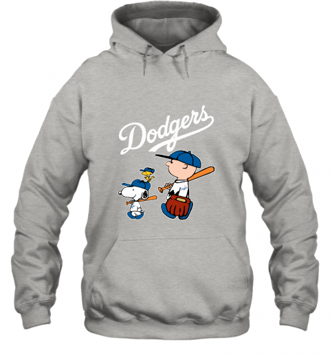 3h1r los angeles dodgers lets play baseball together snoopy mlb shirt hoodie 23 front ash