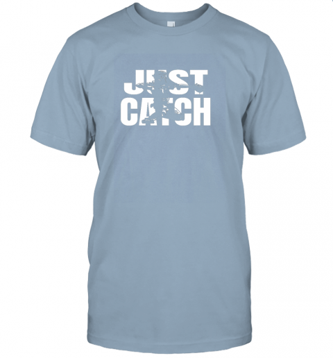 gimj just catch baseball catchers long sleeve shirt baseballisms jersey t shirt 60 front light blue