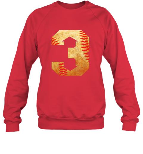 k1lt three up three down baseball 3 up 3 down sweatshirt 35 front red