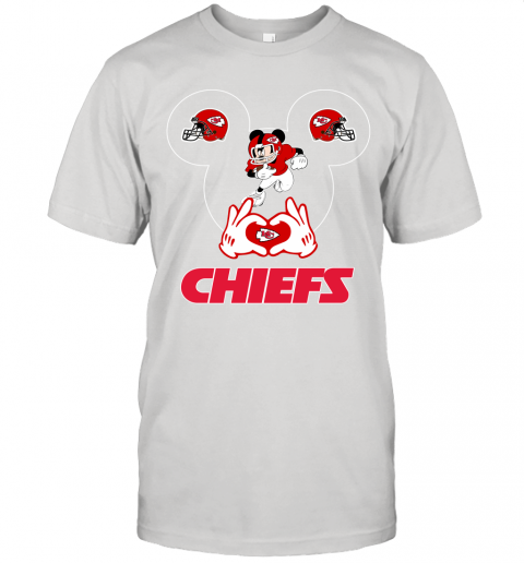 I Love The Chiefs Mickey Mouse Kansas City Chiefs Unisex Jersey Tee