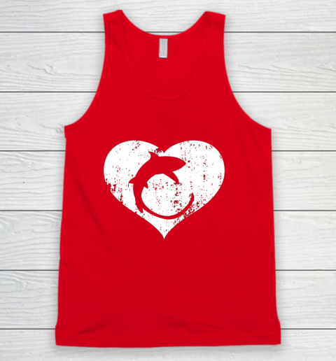 I Love Sharks Gifts Thresher Shark Heart Valentine Gift Tank Top 5