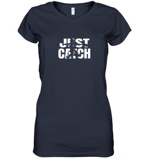 m42j just catch baseball catchers gear shirt baseballin gift women v neck t shirt 39 front navy