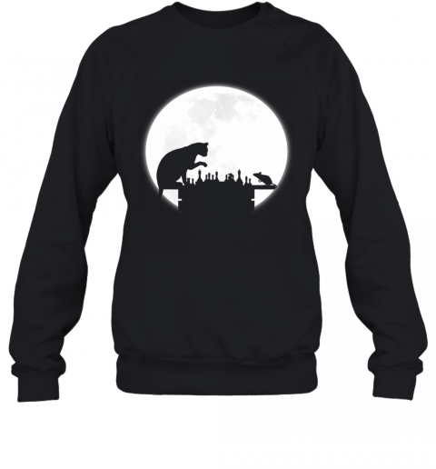 The Chess Board - The Cat, The Mouse And The Full Moon Sweatshirt