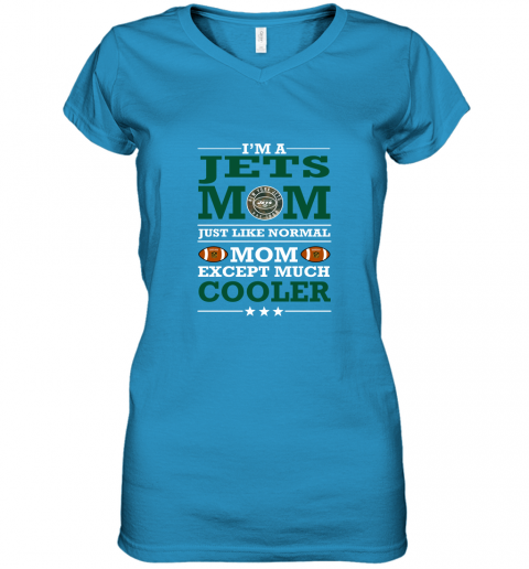 swqz i39 m a jets mom just like normal mom except cooler nfl women v neck t shirt 39 front sapphire
