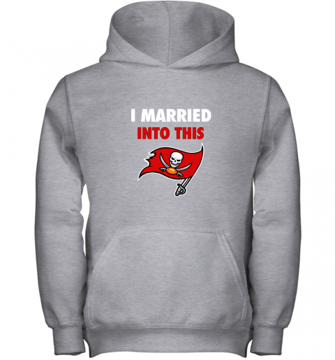 3zw8 i married into this tampa bay buccaneers football nfl youth hoodie 43 front sport grey