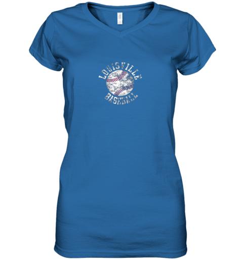 gtnk vintage louisville baseball women v neck t shirt 39 front royal