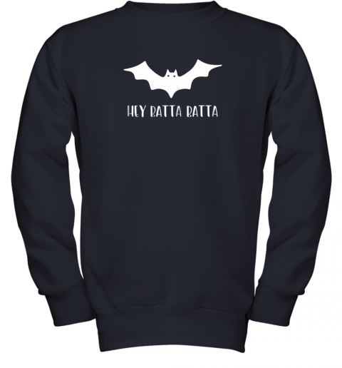 5wl3 halloween bat shirt funny baseball lover hey batta gift youth sweatshirt 47 front navy