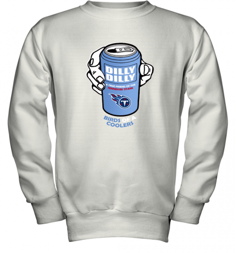 Bud Light Dilly Dilly! Tennessee Titans Birds Of A Cooler Youth Sweatshirt