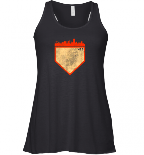 Retro San Francisco Baseball No Plate Like Home Racerback Tank
