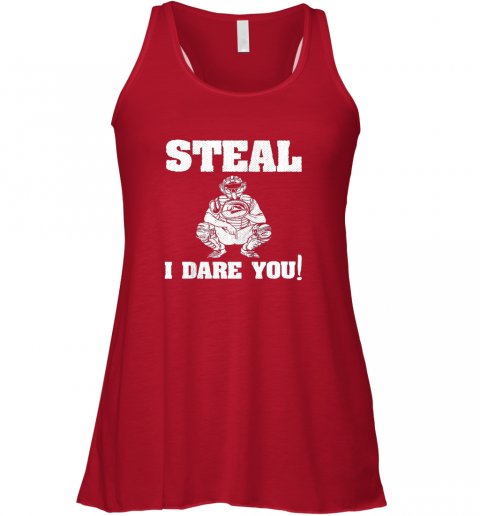 uw4z kids baseball catcher gift funny youth shirt steal i dare you33 flowy tank 32 front red