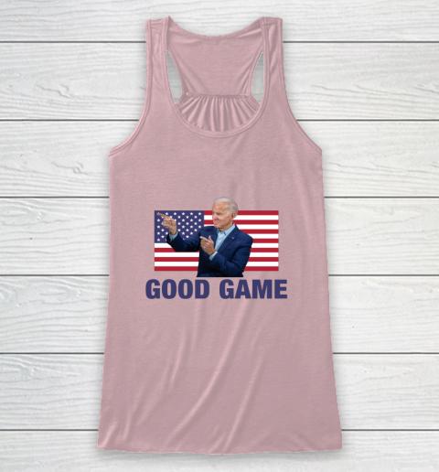 Good Game Joe Biden American Flag Winner Democrat Byedon Racerback Tank 5