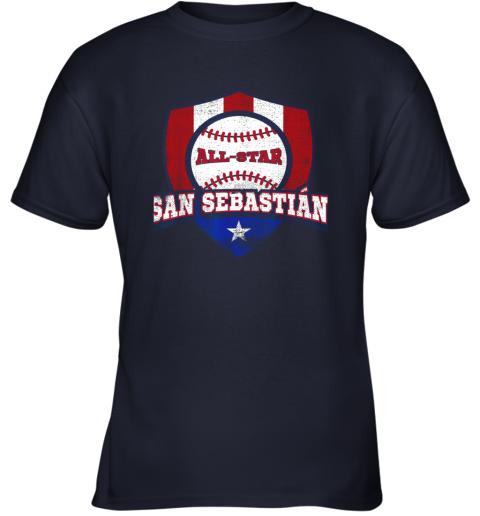 1nbq san sebastian puerto rico puerto rican pr baseball youth t shirt 26 front navy