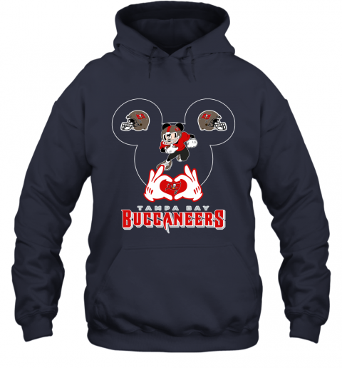 mg4g i love the buccaneers mickey mouse tampa bay buccaneers s hoodie 23 front navy