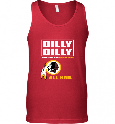 y1jt a true friend of the redskins unisex tank 17 front red
