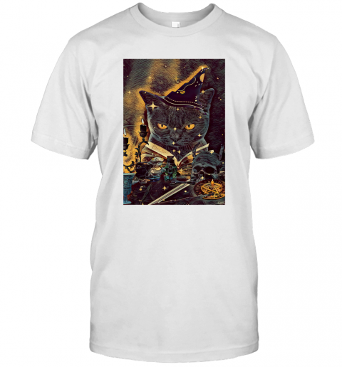 Tarot Cat Cards Magician Halloween T-Shirt