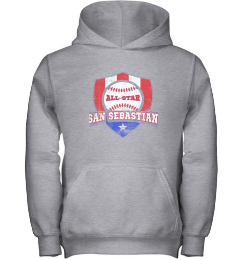 jv9h san sebastian puerto rico puerto rican pr baseball youth hoodie 43 front sport grey