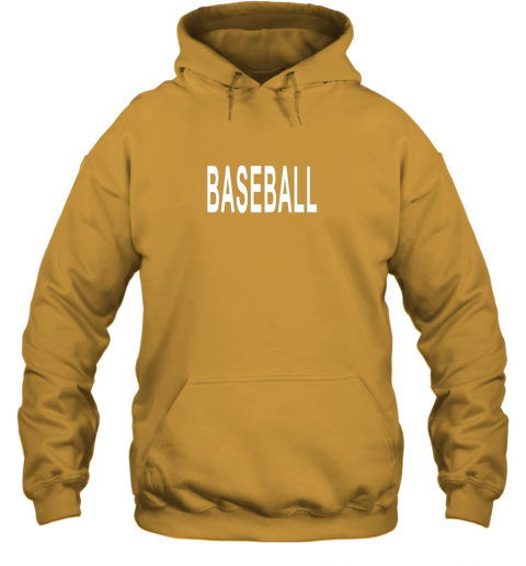 llvz shirt that says baseball hoodie 23 front gold