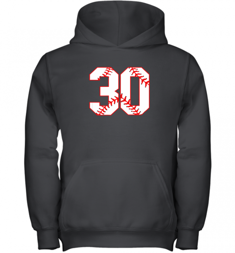 Thirtieth Birthday Party 30th Baseball Shirt Born 1989 Youth Hoodie