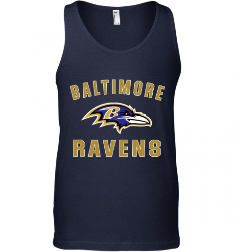 1ekh mens baltimore ravens nfl pro line by fanatics branded gray victory arch t shirt unisex tank 17 front navy