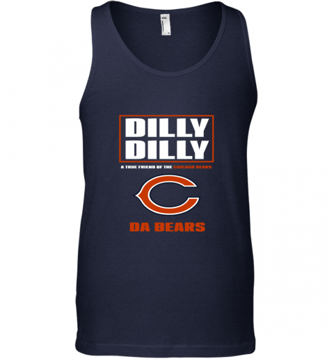 sbyq dilly dilly a true friend of the chicago bears unisex tank 17 front navy