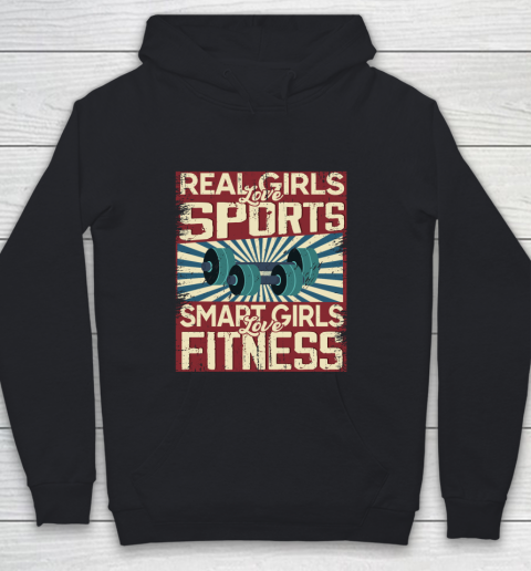 Real girls love sports smart girls love fitness Youth Hoodie