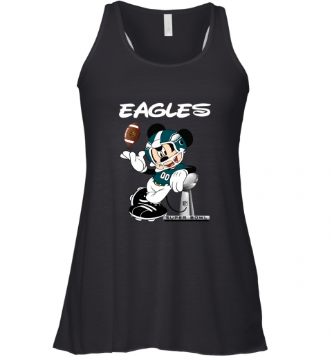 Mickey Eagles Taking The Super Bowl Trophy Football Racerback Tank