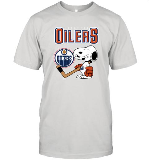 Edmonton Oilers Ice Hockey Broken Teeth Snoopy NHL Shirt