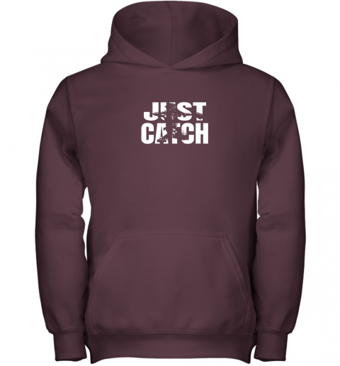 pqr4 just catch baseball catchers gear shirt baseballin gift youth hoodie 43 front maroon
