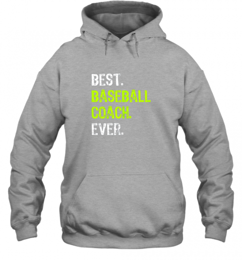 ldrm best baseball coach ever funny gift hoodie 23 front sport grey
