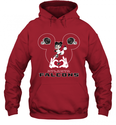zzcq i love the falcons mickey mouse atlanta falcons hoodie 23 front red