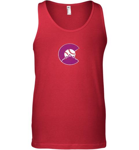 u67q colorado rocky mountain baseball sports team unisex tank 17 front red