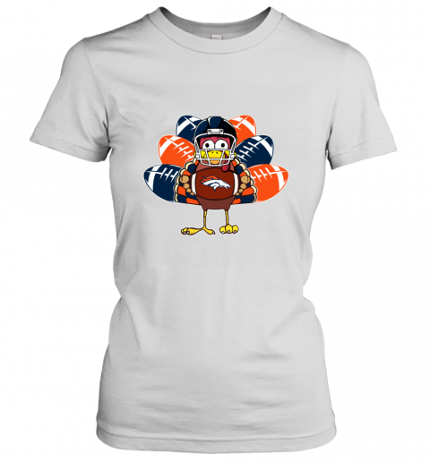 Denver Broncos  Thanksgiving Turkey Football NFL Women's T-Shirt
