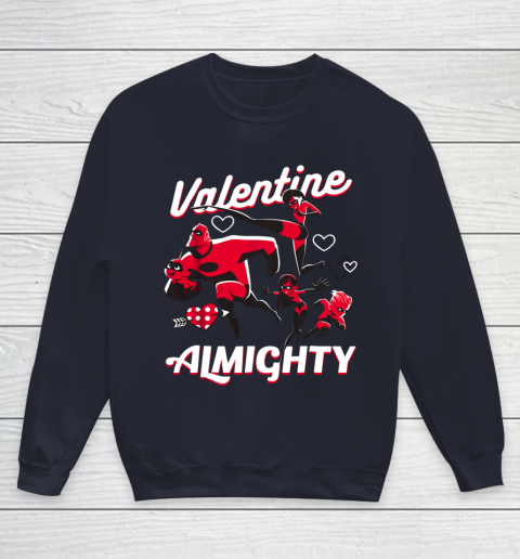 Disney Pixar Incredibles Family Valentine Almighty Youth Sweatshirt 2