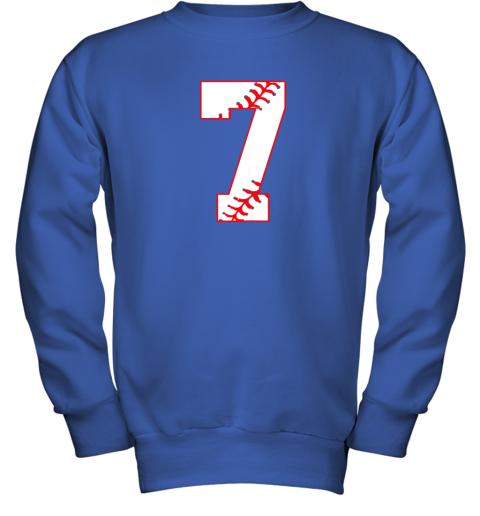 csjj cute seventh birthday party 7th baseball shirt born 2012 youth sweatshirt 47 front royal