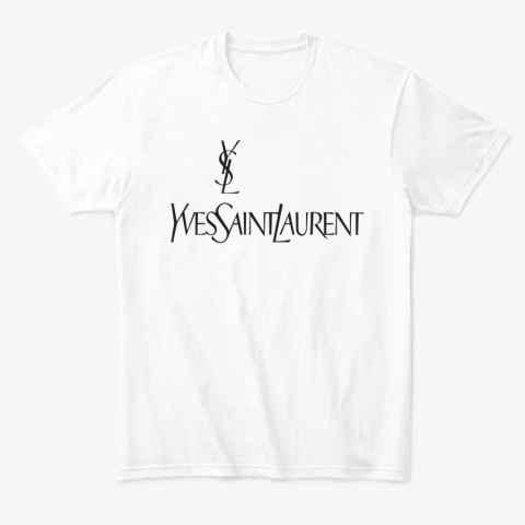 Ysl Yves Saint Laurent Logo T-Shirt