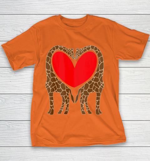 Cute Giraffe TShirt Fun Valentine Gift for Giraffe Lovers Youth T-Shirt 4