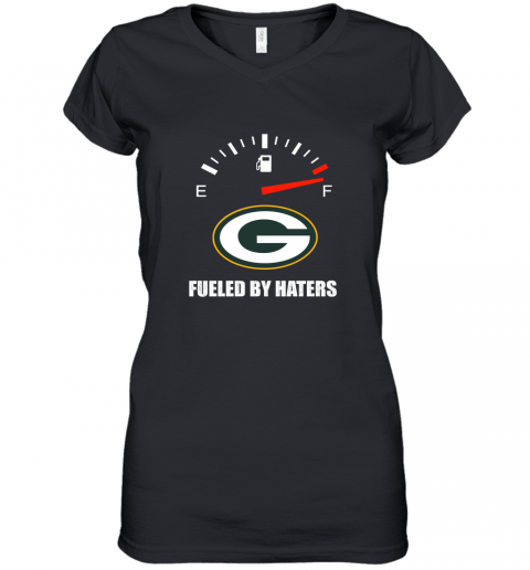 Fueled By Haters Maximum Fuel Green Bay Packers Women's V-Neck T-Shirt