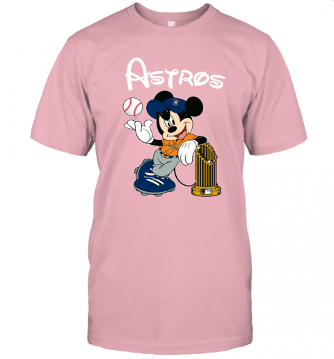 Astros Mickey Taking The Trophy MLB Unisex Jersey Tee
