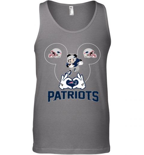 mna3 i love the patriots mickey mouse new england patriots unisex tank 17 front graphite heather