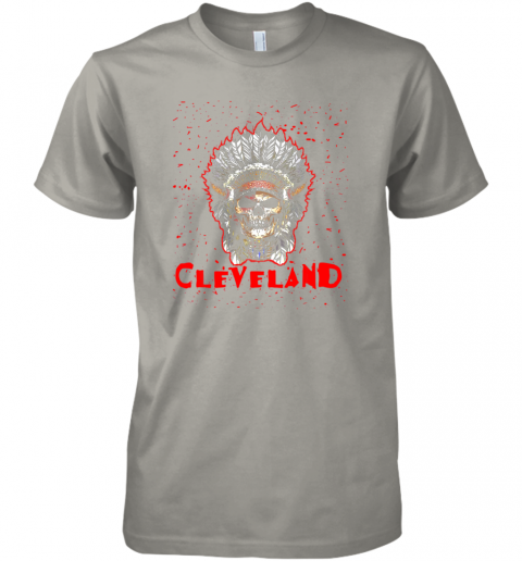 14oe cleveland hometown indian tribe vintage baseball fan awesome premium guys tee 5 front light grey
