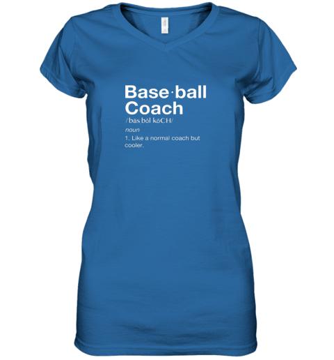 45om coach baseball shirt team coaching women v neck t shirt 39 front royal