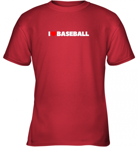 12vp i love heart baseball youth t shirt 26 front red