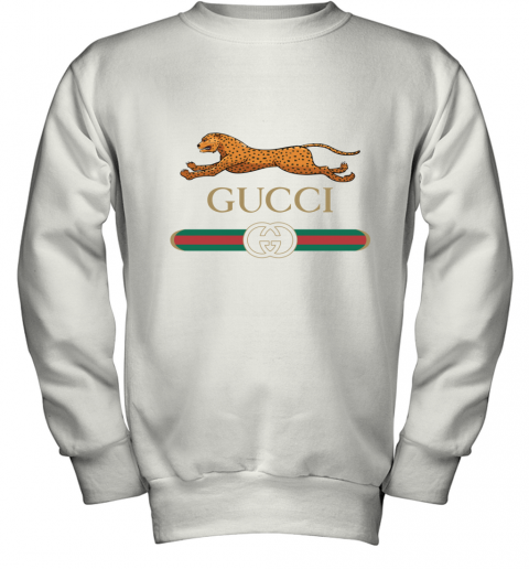 GUCCI Sequin Logo Oversized Youth Sweatshirt