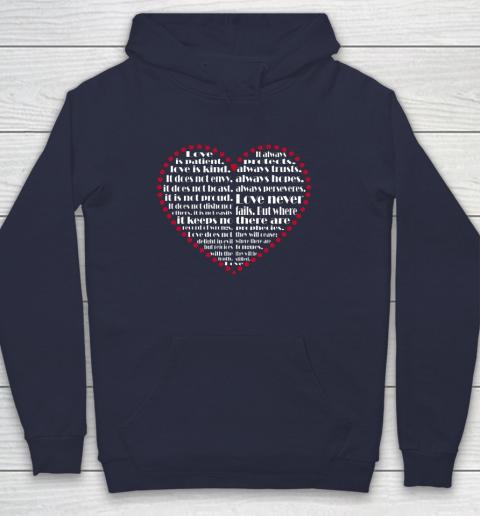 Love is patient love is kind Valentine Hearts Valentines day Hoodie 2
