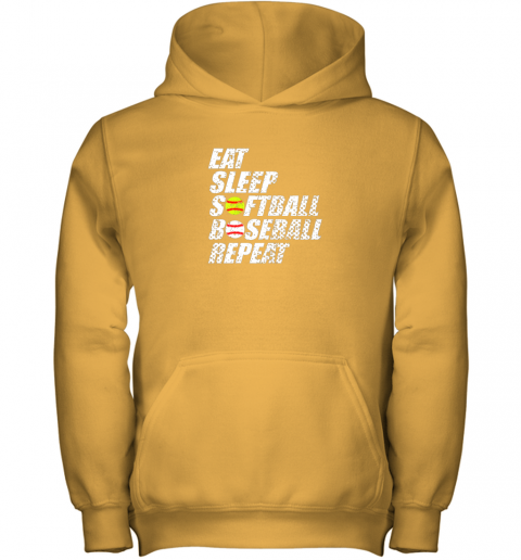op3p softball baseball repeat shirt cool cute gift ball mom dad youth hoodie 43 front gold
