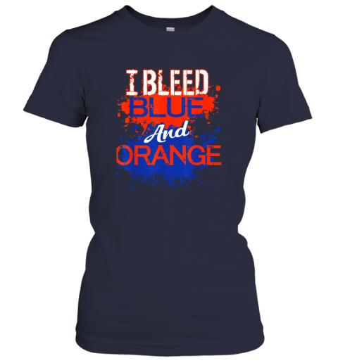 uvwe i bleed blue and orange fan shirt football soccer baseball ladies t shirt 20 front navy